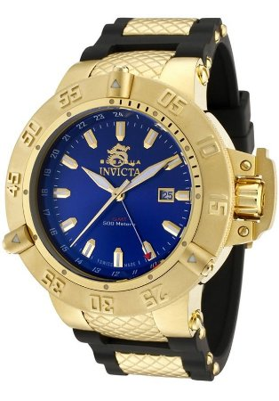 Relógio Invicta Subaqua 1150 Plaque Banhado Ouro 18k Cronografo 51mm
