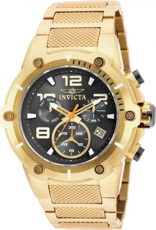 Relógio Invicta Speedway 19530 Banhado Ouro 18k Cronografo 51mm