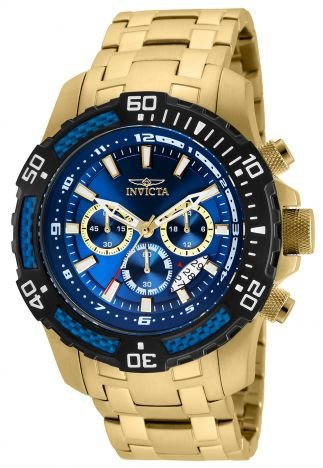 Relógio Invicta Pro Diver 24856 Banhado Ouro 18k Cronografo 51mm