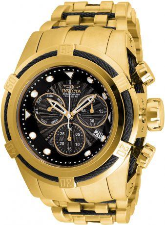 Relógio Invicta Bolt Zeus 23912 Banhado Ouro 18k Cronografo Suiço Z60 53mm