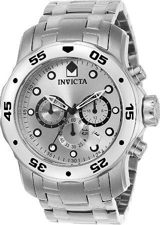 Relógio Invicta Pro Diver 0071 Prata Aço Inox Cronografo 48mm W/R 200m