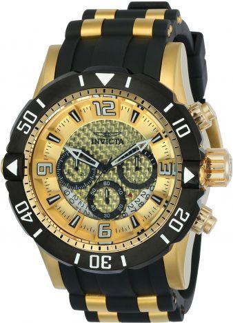 Relógio Invicta Pro Diver 23700 Banhado Ouro 18k 50mm Pulseira Poliuretano