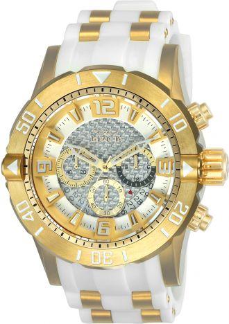 Relógio Invicta Pro Diver 23699 / 24164 Cronografo 50mm Banhado Ouro 18k