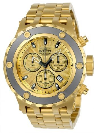 Relógio Invicta Subaqua 23922 Suiço 52mm Banhado Ouro 18k Cronografo