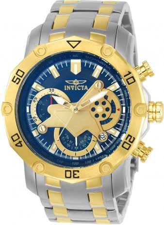 Relógio Invicta Pro Diver 22762 Cronografo 50mm Banhado Ouro 18k