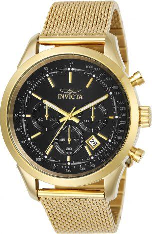Relógio Invicta Speedway 25223 Banhado Ouro 18k Cronografo