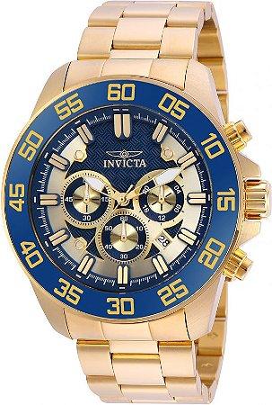 Relógio Invicta Pro Diver 24727 Banhado Ouro 18k Cronografo 48mm W/R 100m