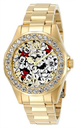 Relógio Invicta Feminino Disney Collection 24419 B. Ouro 18k W/R 100m