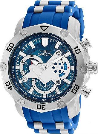Relógio Invicta Pro Diver 22798 Aço Inoxidável Prata Cronografo 50mm
