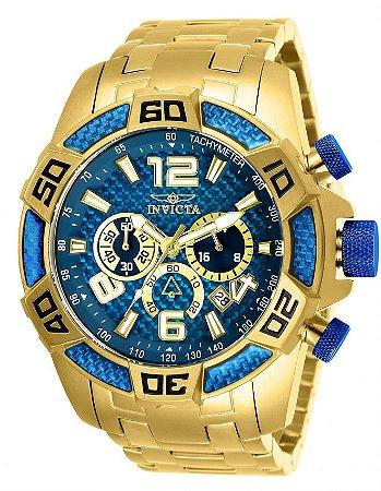 Relógio Invicta Pro Diver 25852 Cronografo 50mm Banhado Ouro 18k
