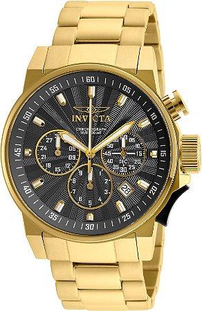 Relógio Invicta Force 23089 Cronografo 46mm Banhado Ouro 18k