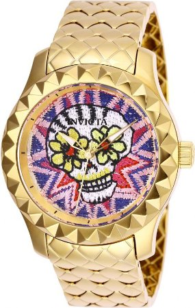 Relógio Invicta Wildflower 26113 Ed. Limitada 40mm Banhado Ouro 18k