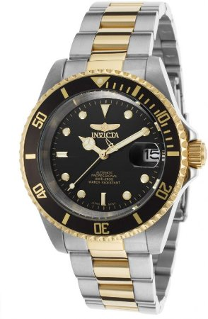 Relógio Invicta Pro Diver 8927ob Automáico t40mm Banhado Ouro 18k