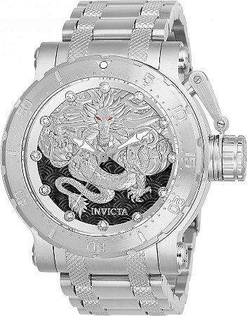 Relógio Invicta Coalition Force Dragon 26510 Prata Automático