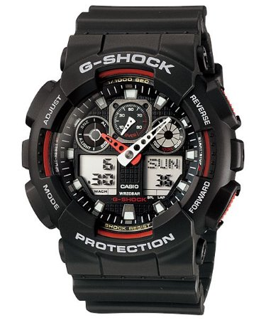 Relógio Casio G-Shock GA-100-1A4 Resina Masculino Digital / Analógico W/R 200m