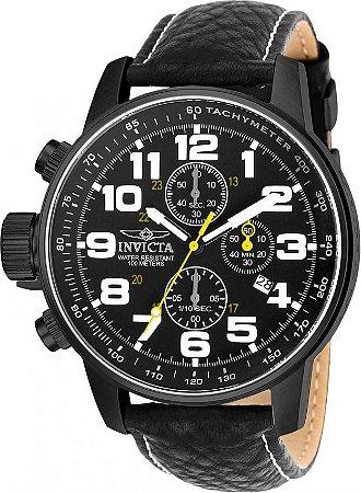 Relógio Invicta I Force 3332 Preto Couro 46mm Cronografo VD57