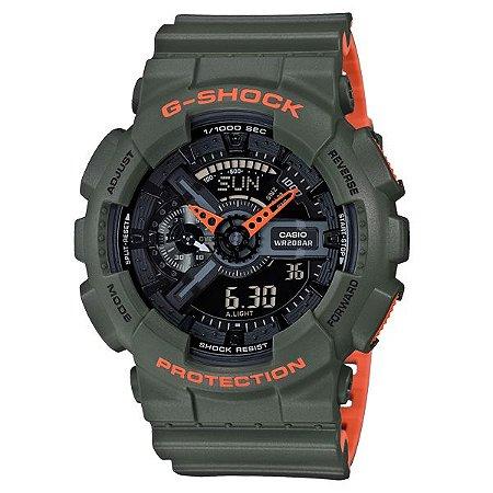Relógio Casio G-Shock GA-110LN-3A Resina Masculino Digital / Analógico W/R 200m