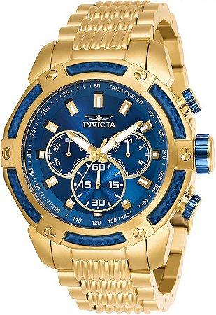 Relógio Invicta Speedway 26476 Cronografo 48mm Banhado Ouro 18k VD54