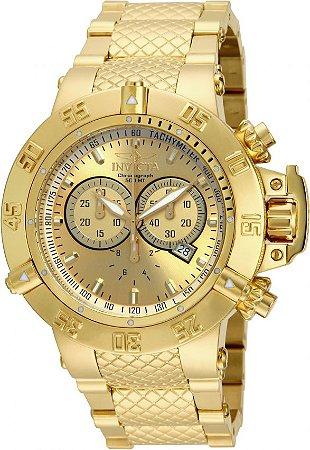 Relógio Invicta Subaqua 14500 Swiss 50mm Banhado Ouro 18k Cronografo