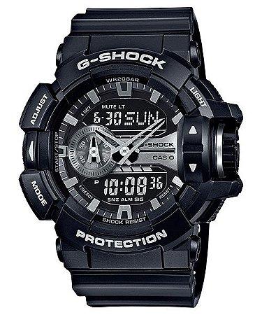Relógio Casio G-Shock GA-400GB-1ADR Resina Masculino Digital / Analógico W/R 200m
