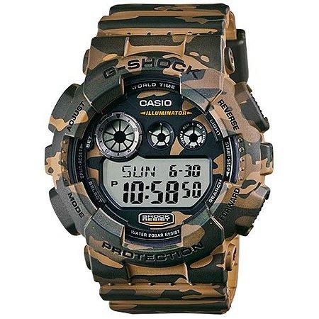 Relógio Casio G-Shock GD-120CM-5DR Resina Masculino Digital W/R 200m