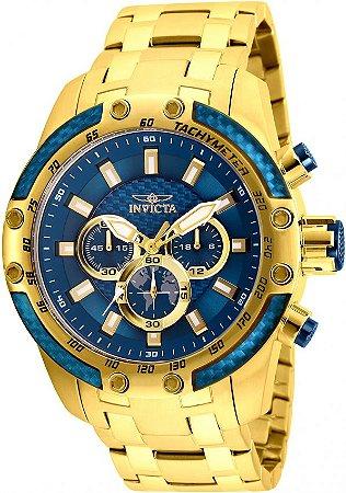 Relógio Invicta Speedway 25945 Cronografo 50mm Banhado Ouro 18k VD54