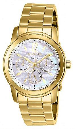 Relógio Invicta Angel Lady 0465 Feminino 38mm Banhado Ouro 18k VH63