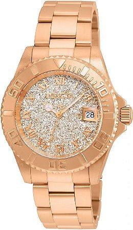Relógio Invicta Angel Lady 22708 Feminino 40mm Ouro Rose 18k Swiss 515