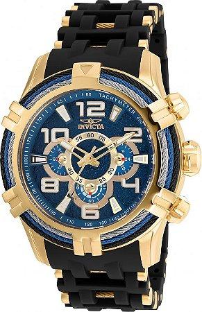 Relógio Invicta Bolt 25556 Cronografo 51mm Banhado Ouro 18k VD54