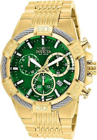 Relógio Invicta Bolt 25869 Cronografo 51mm Banhado Ouro 18k Z60