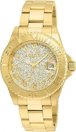 Relógio Invicta Angel 22707 Feminino 40mm Banhado Ouro 18k Swiss 515