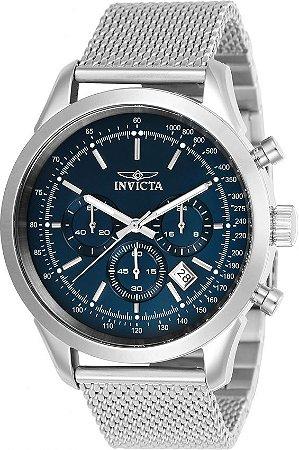 Relógio Invicta Speedway 24209 Aço Inoxidável 45mm Mostrador Azul VD53