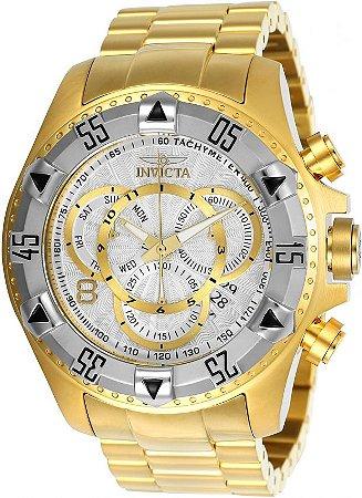 Relógio Invicta Excursion Reserve 24264 Banhado Ouro 18k Cronografo 52mm