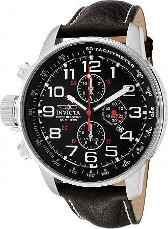 Relógio Invicta I Force 2770 Pulseira de Couro 46mm Aço Inoxidável Calibre VD57