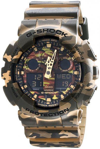 Relógio Casio G-Shock GA-100CM-5 Camuflado Masculino Digital / Analógico W/R 200m