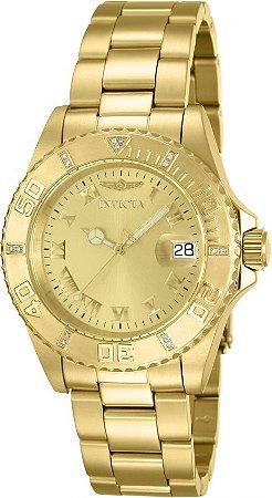 Relógio Invicta Pro Diver 12820 Banhado Ouro 18k 40mm Swiss
