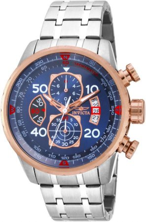 Relógio Invicta Aviator 17203 Cronografo 48mm Aço Inoxidável VD57