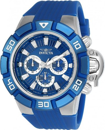 Relógio Invicta Force 24386 Azul Aço Inoxidável 52mm Cronográfo VD54