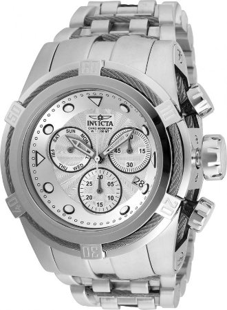 Relógio Invicta Bolt Zeus 23909 Aço Inoxidável Cronografo Suiço Z60 53mm