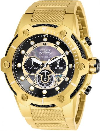 Relógio Invicta Bolt 26813 Cronografo 51.5mm Banhado Ouro 18k