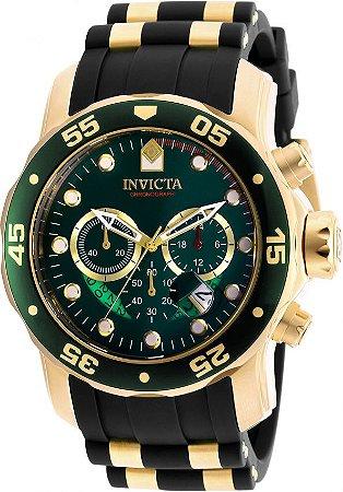 Relógio Invicta Pro Diver 6984 Banhado Ouro 18k Cronografo 48mm