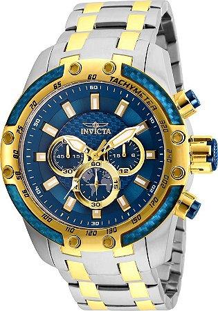 Relógio Invicta Speedway 25947 Cronografo 50mm Banhado Ouro 18k VD54