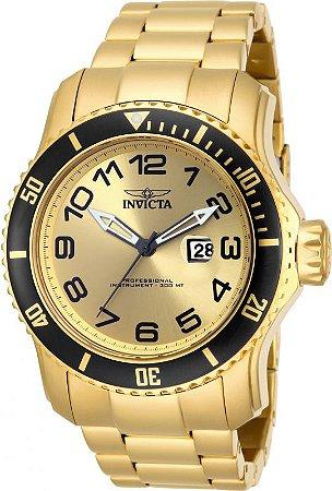 Relógio Invicta Pro Diver 15350 Banhado Ouro 18k 49mm W/R 300m