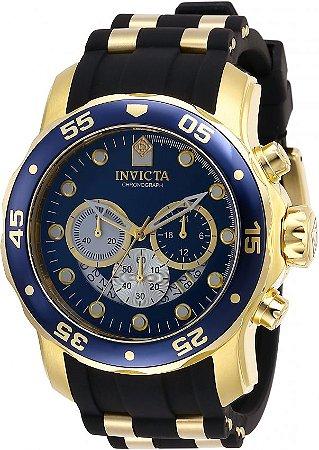 Relógio Invicta Pro Diver 28723 Banhado Ouro 18k Cronografo 48mm