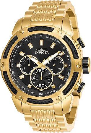 Relógio Invicta Speedway 26475 Cronografo 48mm Banhado Ouro 18k VD54