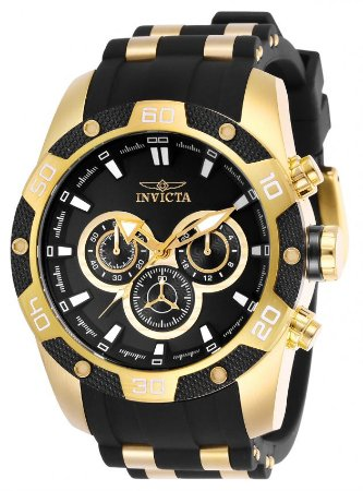 Relógio Invicta Speedway 25835 Cronografo 48mm Banhado Ouro 18k