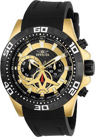 Relógio Invicta Aviator 21739 Cronografo 48mm Banhado Ouro 18k