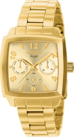 Relógio Invicta Angel 12101 Feminino 36mm Banhado Ouro 18k