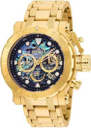 Relógio Invicta Coalition Forces 26504 Cronografo 52mm Banhado Ouro 18k