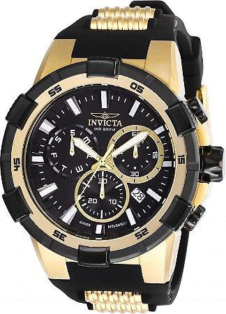 Relógio Invicta Aviator 27350 Cronografo Z60 Banhado Ouro 18k
